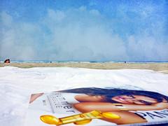 summer rescue (1crzqbn) Tags: sliderssunday beach blanket magazine ocean seaside sky textures texture sand itwas90finoregonunheardofp