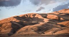Shadows grow as the sun sets (maytag97) Tags: maytag97 nikon d750 dry arid desert sunset sunrise cloud sky oregon contrast contour rounded shape hill mountain