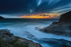 S I D E L I N E D (Anne Strickland) Tags: poldarkcountry tintagel bluehour uklandscape seascapes longexposure nisifiltersusa northcornwallcoast cornwall trebarwithstrand