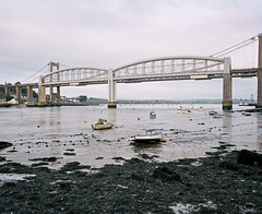 Saltash Passage #1 (@davidflem) Tags: saltash plymouth devon cornwall brunel tamar mamiya mamiya7 65mm kodak portra portra400 mediumformat 120film 6x7 istillshootfilm