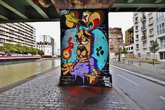 Fire... (HBA_JIJO) Tags: streetart urban graffiti paris animal art france hbajijo wall mur painting aerosol peinture spray mural bombing urbain charactere lapin fire rabbit allumette