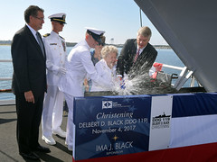 Ima J. Black christens DDG 119. (Official U.S. Navy Imagery) Tags: ddg119 black dilbertblack mcpon destroyer christening hii pascagoula miss unitedstates