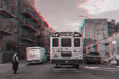 Brooklyn, NewYork (DDDavid Hazan) Tags: brooklyn newyork newyorkcity ny nyc street streetphotography schoolbus anaglyph 3d bwanaglyph blackandwhiteanaglyph 3danglyph 3dstereophotography redcyan redcyan3d stereophotography stereo3d