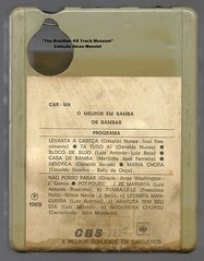 """1969 - Os Bambas / O Melhor em Samba - brazil 4 track - fita cartucho de 4 pistas (""""The Brazilian 8 Track Museum"""") Tags: alceu massini vintage collection samba brazilian music"""
