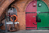 Port door, Starboard door (stevee1958) Tags: anchors portandstarboard redandgreen doors colorsinourworld