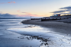 Bracing at Findhorn (Stoates-Findhorn) Tags: findhorn 2017 sunrise winter firth beach moray scotland huts coast shore sea unitedkingdom gb