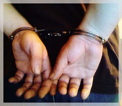 handcuffed wrist (catbleu4555) Tags: handcuffed handcuff arested police metal jail prison justice control guy