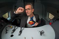 Heroes (sdupimages) Tags: humour superman portrait train cab parodie parody