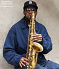 B Sharp (DetroitDerek Photography ( ALL RIGHTS RESERVED )) Tags: allrightsreserved 313 detroit motown musician saxophone saxophonist player tigers hat oldenglishd urban downtown greektown tips midwest usa america nothdr canon digital motorcity detroitderek archive november 2017 male man blue hands horn sunglasses