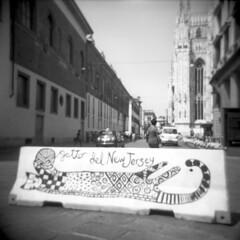 Gatto (Valt3r Rav3ra - DEVOted!) Tags: holga holgacfn lomo lomography bw biancoenero blackandwhite ilford ilfordfp4 analogico analogica analog analogue film 120 6x6 medioformato milano mediumformat valt3r valterravera visioniurbane urbanvisions streetphotography street streetart