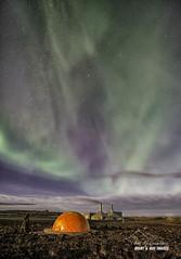 Heavenly lights, Earthly Power (macdad1948) Tags: iceland reykjanes powerplant geothermal aurora northernlights strars astro night