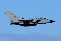 45+00 German Air Force Tornado IDS 4200/GS-153 at EIN-EHEH (Dutchairplaneshooter) Tags: german luftwaffe tornado 4500 eindhoven airport low pass nikon d3300