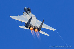 McDonnell Douglas F-15D Eagle of the 433d Weapons Squadron of the USAF Weapons School at Nellis AFB (Norman Graf) Tags: 830050 aircraft f15 vapor airplane 433dwps f15d 2016nellisafbopenhouse mcdonnelldouglas wingtipvortex airshow afterburner usaf usafws 433rdweaponssquadron aviationnation condensation eagle fighter klsv nellisafb plane usafweaponsschool unitedstatesairforce vortices wa