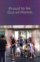 Movie ad (klauslang99) Tags: streetphotography klauslang toronto movie ad outofhome people