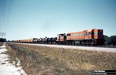 2821 DA1575 T1803 freight Forrestfield 9 February 1982 (RailWA) Tags: railwa philmelling westrail 1982 da1575 t1803 freight forrestfield