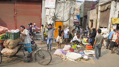 Mini mart (Tim Brown's Pictures) Tags: india olddelhi delhi travel market cargobicycle street