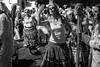 Dia de Los Muertos (Super G) Tags: nikon306 diadelosmuertos dayofthedeadsf bw blackandwhite candid dance ceremony procession themission sanfrancisco woman facepaint makeup motion blur night 2017