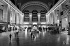 Grand Central (sleepnever) Tags: grandcentral terminal newyork train subway railway people blackwhite bw americanflag flag tickets longexposure 2470l robertwatts