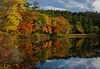 Fall reflection (Rabican7) Tags: newhampshire newengland fallfoliage autumn beautifulscenery scenic view colorful reflection sky forest trees red orange lake chocorua landscape photography