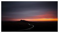 Grand Tor (picturedevon.co.uk) Tags: haytor dartmoor nationalpark devon uk sunrise color red orange black le longexposure fineart minimal counrtyside travel light trail sky clouds landscape morning rock wwwpicturedevon