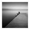 /-\  why ? (paolo paccagnella) Tags: phpph canonequipment sky squareformat framework quad bn bw blackandwhite best biancoenero seascape think black pier eos5dm3 longexposure minimal activity diagonal haidapro