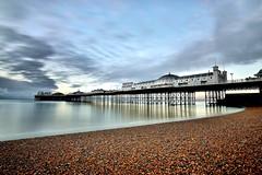 Pier at Dawn (Croydon Clicker) Tags: beach pier seaside coast dawn sunrise longexposure clouds sky water 1500v60f