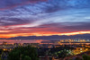 Red Friday in Cagliari (Fabrizio Contu) Tags: cagliari sardegna sardinia landscape sunset city skyline sky sea bay seaport clouds colors