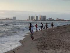 Families on the Beach at Dusk (David J. Greer) Tags: puerto vallarta mexico beach evening dusk holiday travel fun family people surf sand seashore