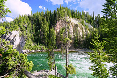 View across River Yellowstone, Wyoming, USA (Andrey Sulitskiy) Tags: usa wyoming yellowstone