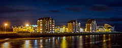 Ayr Harbour... (Catherine Cochrane) Tags: architecture outdoors landscapephotography night town ayr ayrshire water building sky clouds bluehour nightphotography