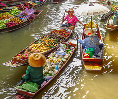 Floating Market Tropical Fruits (FotoGrazio) Tags: bangkok damnoendaduak floatingmarket food leisure river thai thailand waynegrazio waynesgrazio woman worldphotographer art boat boats breakfast business canal composition cooking cooks dinner eating exotic flatboat foodpreparation fotograzio fruit fruits lunch noodles people restaurant soup spice spices stirfry tourism tourist tropical umbrella vacation vegetables water women