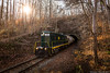 Ohio South Central Railroad in Byer, OH (Brandon Townley) Tags: trains railroad contrast outside light sun tunnel trees