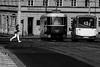 Toward Tram Stop (MassimilianoBianchini) Tags: praga prague praha street streetphoto streetphotobw bnw blackandwhite monocromo monochrome