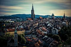 Old Town Of Bern (LeWelsch Photo) Tags: oldtown bern bundeshaus münster church bernermünster hdr urbex town roof tile altstadt rosengarten berne switzerland a6000 ilce6000 sel55210 lewelsch madeinbern