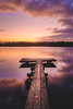 Jetty Vintage (Matt Rimkus Photography) Tags: schleswigholstein landscape leaf tranquility serenity winter sunrise colourful water bossee sky jetty lake reflections warmtones clouds westensee deutschland de