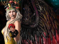 Djinn (Opale Lily) Tags: tlb mila az 187 truth cnz blueberry ppk suicidedollz event blog djinn snake serpent apple