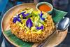 Crispy omelet with wild flowers (mr.beaver) Tags: the never ending summer restaurant crispy omelet with wild flowers thai food cctv 25mm f28