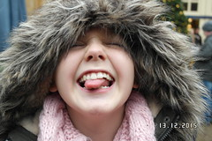 Funny Face (Isabel Emily May) Tags: sister sibling outdoor winter happy face giggle joy silly child children funny