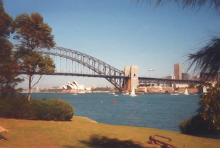 Sydney Harbour Bridge Digital Watercolor