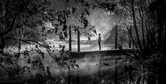 Wonderment (JDS Fine Art Photography) Tags: night river mist atmosphere magic light inspirational beauty reflections winter cold bw monochrome