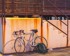 _B110091_DxO (Ryosei Onishi) Tags: rimini pier sunset boat seagulls longiano cesena bicycle rust warm fall autumn colorfull