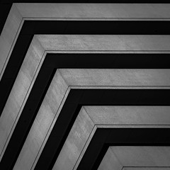 (morbs06) Tags: bangkok thailand abstract architecture building bw city diagonal facade geometry highrise light lines monochrome repetition shadow square stripes texture urban