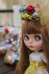 new girl (JennWrenn) Tags: blythe doll custom joannagentiana redhead little cute girl christmas party presents marjorie