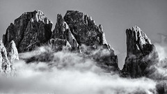 A Moment of Creation... (Ody on the mount) Tags: anlässe berge dolomiten em5ii fototour gipfel italien langkofelgruppe mzuiko40150 omd olympus südtirol urlaub wolken bw monochrome sw ortisei trentinoaltoadige it