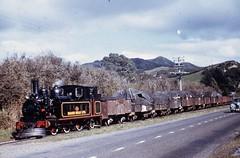 Whakatane Board Mills Railway (Bay of Plenty, New Zealand) - ex-NZR Class FA 0-6-0ST steam locomotive and goods train (HISTORICAL RAILWAY IMAGES) Tags: steam locomotive newzealand boardmills train nzr bayofplenty whakatane explore railway nz