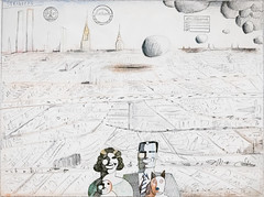 Utopia, 1974 (Jonathan Lurie) Tags: saul steinberg 1974 art museums between lines museum chicago drawing institute aic artinstitutechicago artinstituteofchicago artinstitute artmuseum artinmuseums betweenthelines saulsteinberg illinois unitedstates us