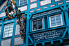 La maison bleue (Lucille-bs) Tags: europe allemagne germany badewurtemberg architecture colombage détail fenêtre bleu enseigne hagnauambodensee