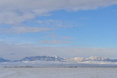 the migration (l i v e l t r a) Tags: df f9 nikkor montana landscape geese formation migrate snowy mt sunshine cold fly