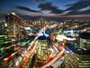 Osaka Blur (Stuck in Customs) Tags: japan osaka 80stays rcmemories treyratcliff stuckincustoms stuckincustomscom hdr hdrtutorial hdrphotography hdrphoto aurorahdr blur long exposure trails cityscape city night sunset dusk