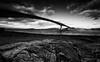 Eilean Bàn (-- Q --) Tags: scotland skye kyleoflochalsh skyebridge westcoast bridge atlanticocean monochrome marumidhgcpl lee09softgrad lee06softgrad